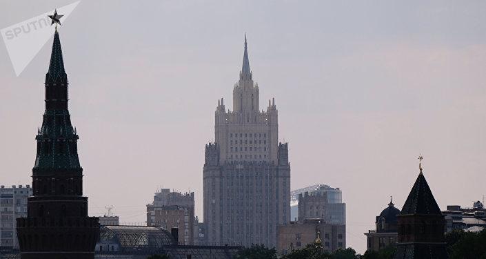 El Ministerio de Asuntos Exteriores de Rusia y el Kremlin (archivo)