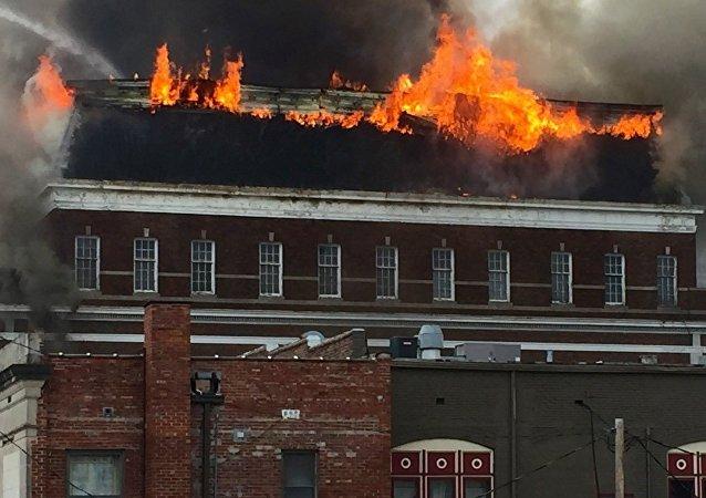 Un incendio (imagen referencial)