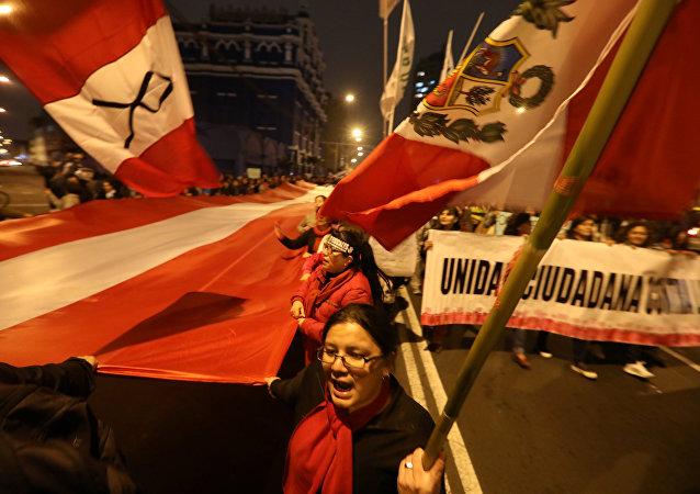Protestas contra la corrupción en Perú