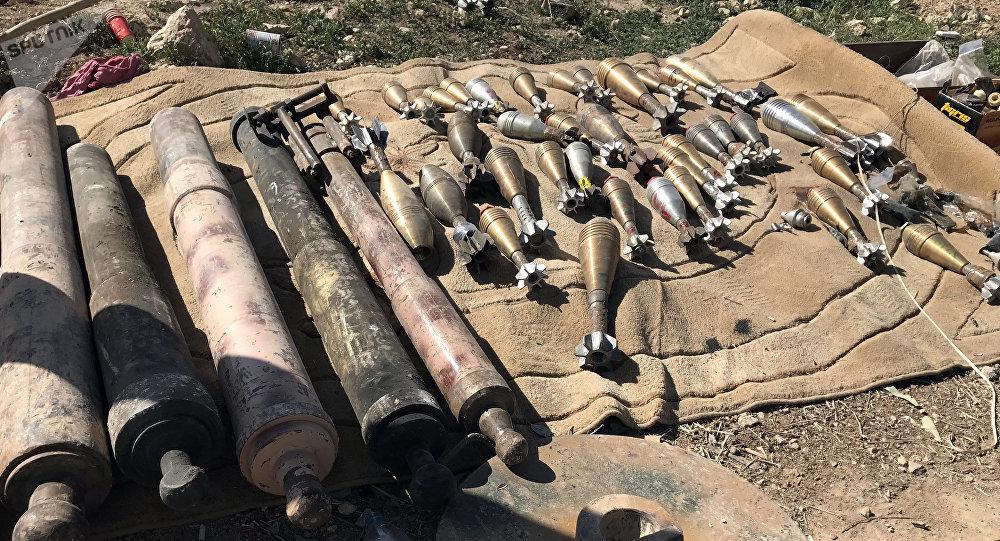 Almacen de municiones en Siria (imagen referencial)