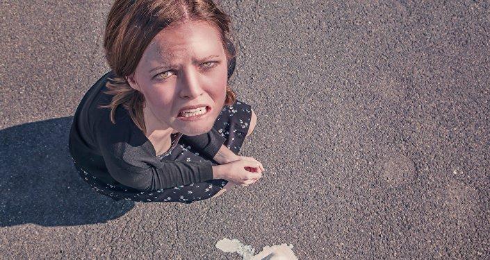 Una mujer enfadada