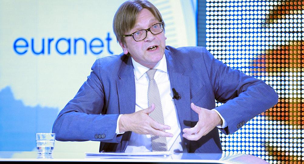 Guy Verhofstadt, líder del Partido de la Alianza de los Liberales y Demócratas por Europa