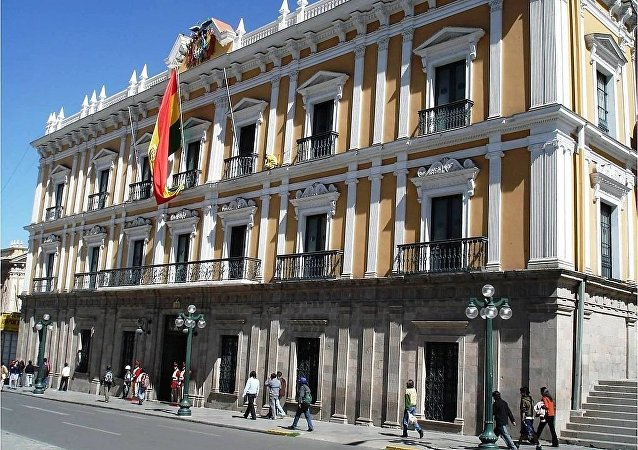 Palacio de Gobierno en La Paz, Bolivia.