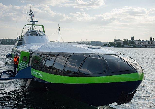 El buque de pasajeros de la nueva generación de Rusia, denominado Kometa 120M
