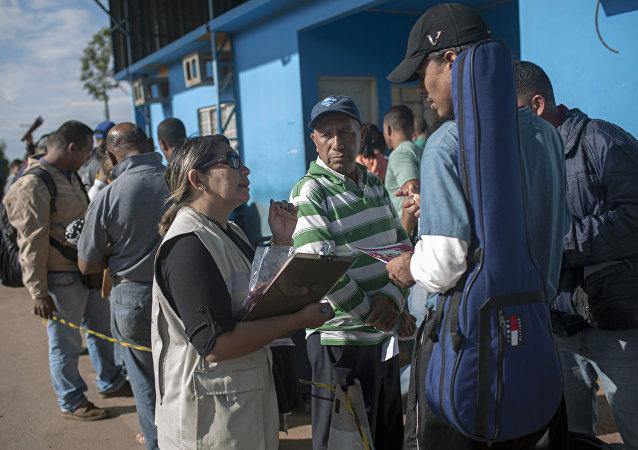 Refugiados venezolanos en Pacaraima, Brasil