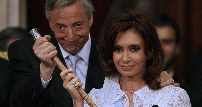 Néstor y Cristina Kirchner, foto de archivo