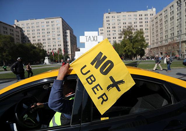 Huelga de taxistas contra Uber y Cabify
