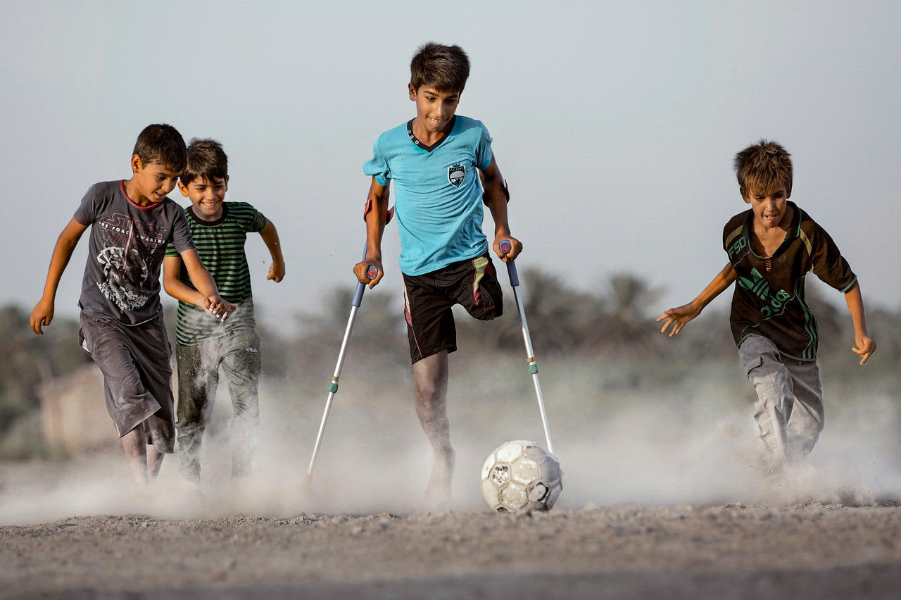 'Deseo de vivir', la imagen del fotógrafo iraquí Taisir Mahdi