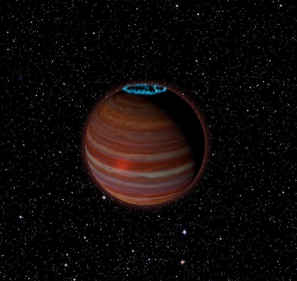 Planeta errante SIMP J01365663+0933473, ilustración artística