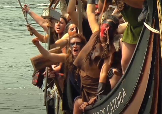 Una horda de vikingos invade Galicia