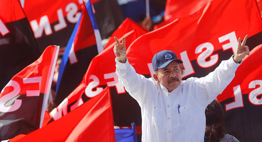 Daniel Ortega, presidente de Nicaragua, durante el 39 aniversario de la victoria sandinista