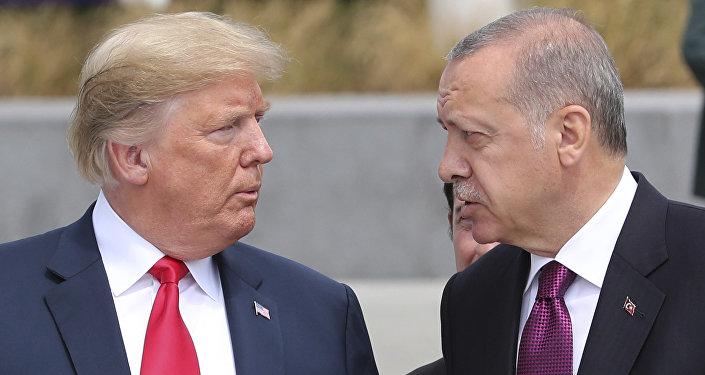 Donald Trump, presindente de EEUU, y Recep Tayyip Erdogan, presidente de Turquía