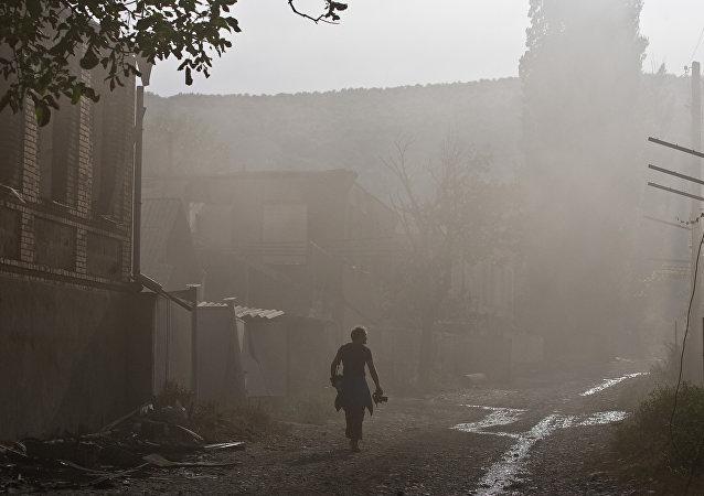 Osetia del Sur durante la invasión de Georgia en 2008 (archivo)