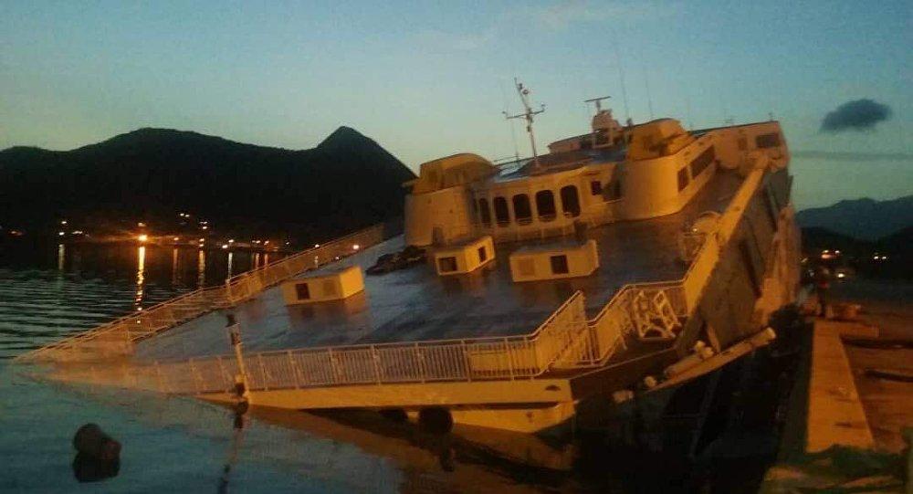 El ferry turístico de la empresa estatal venezolana La Nueva Conferry