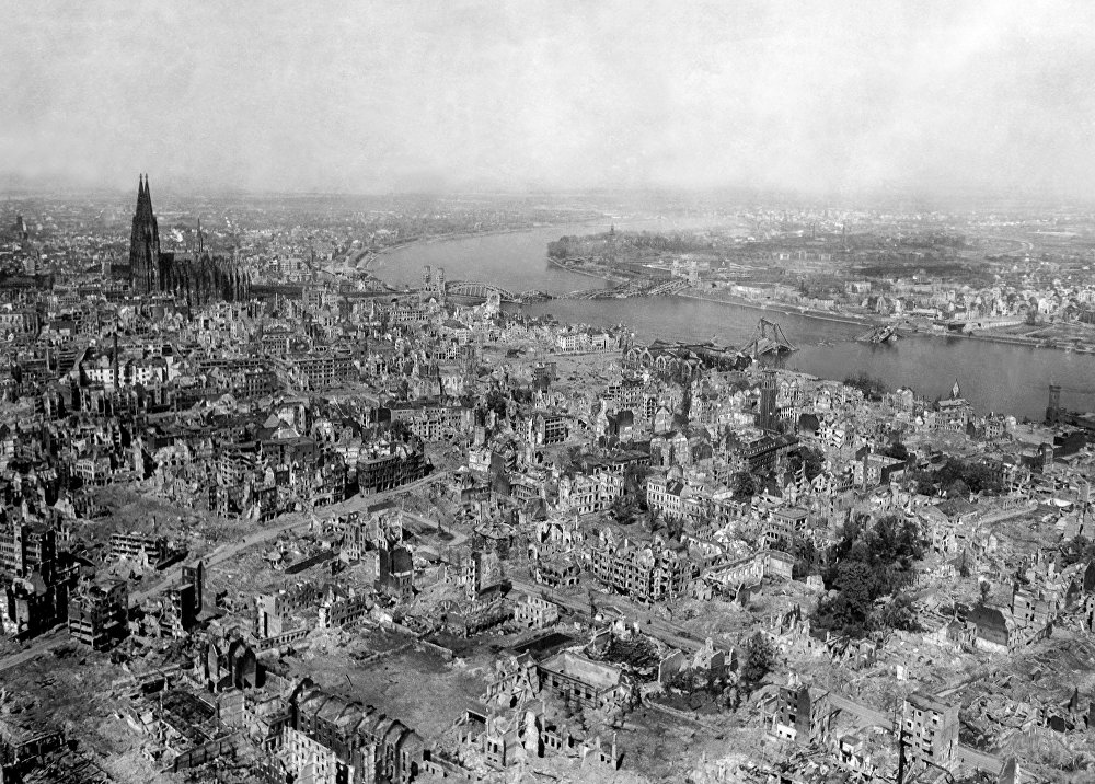 La ciudad de Colonia (Alemania) en abril de 1945