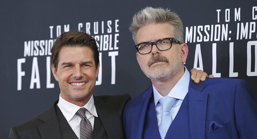 Tom Cruise y Christopher McQuarrie durante el estreno de Misión Imposible 6 en Washington