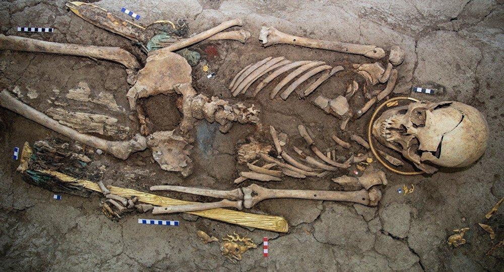 'Hombre dorado' encontrado en Kazajistán