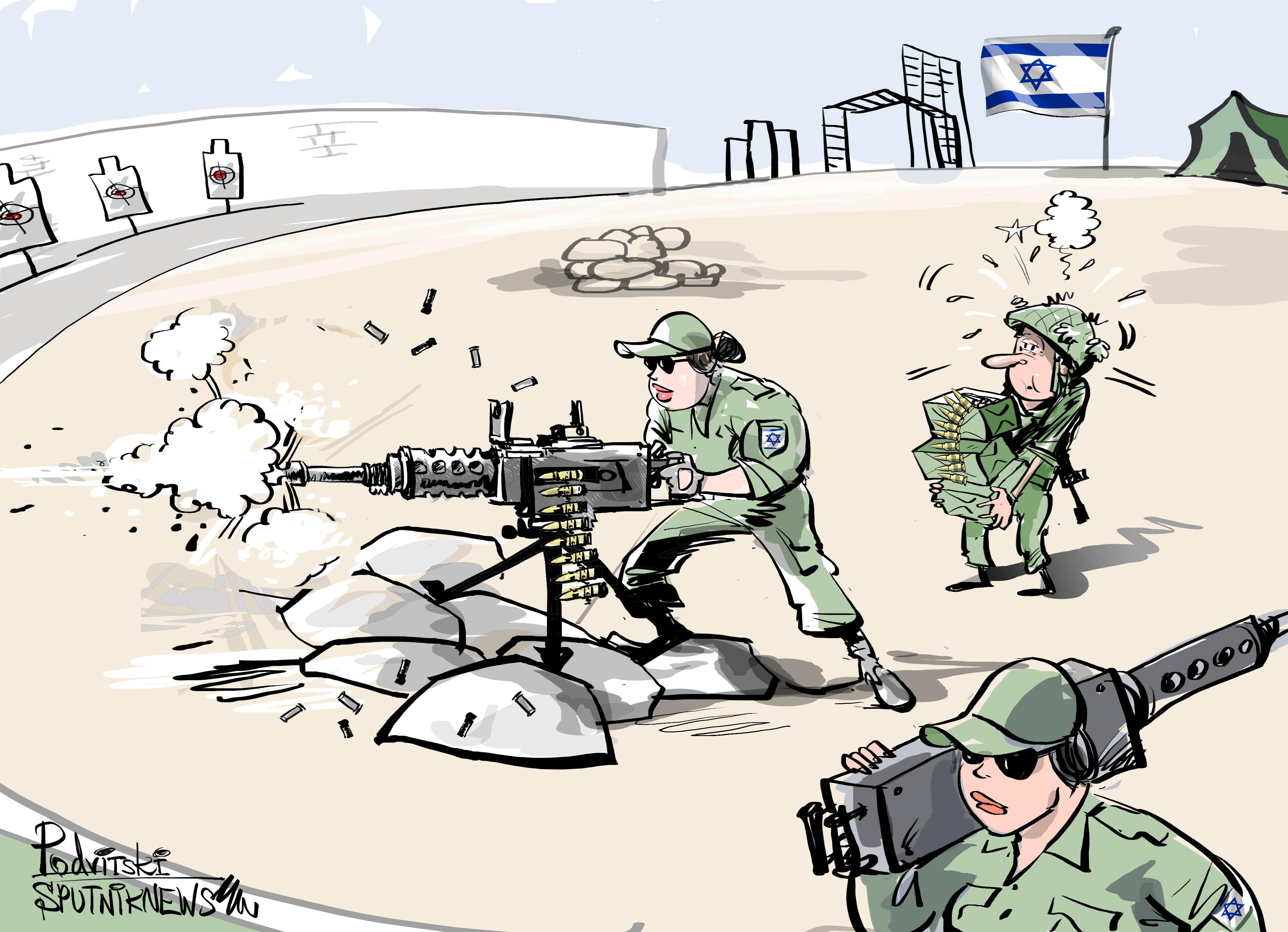 Al combate solo van mujeres israelíes