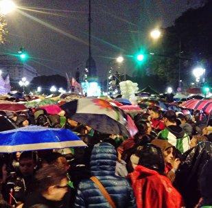 Una manifestación en contra del aborto en Argentina