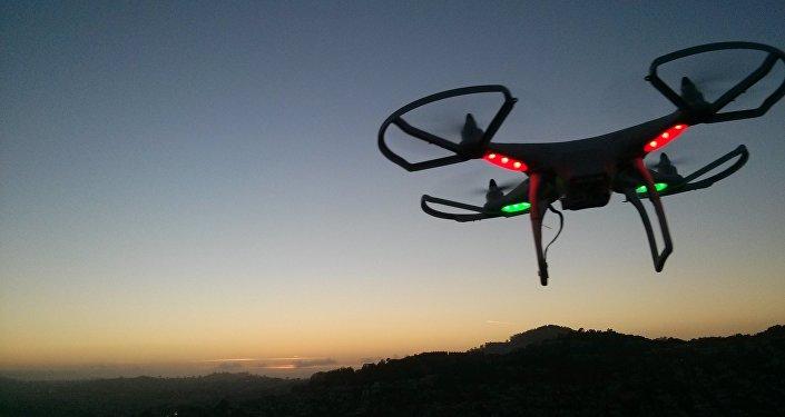 Un dron, imagen referencial