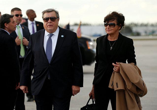 Viktor y Amalija Knavs, los padres de Melania Trump