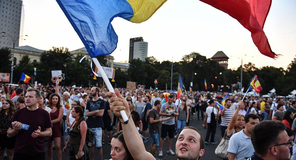 Protesta contra el Gobierno en Bucarest