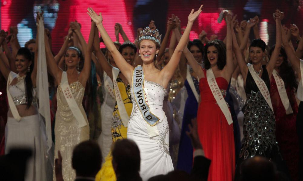 La representante de EEUU, Alexandria Mills, ganadora del título Miss Mundo 2010
