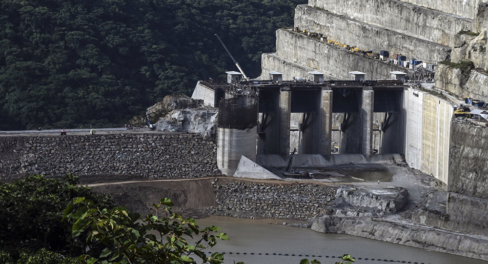 La represa Hidroituango en Colombia