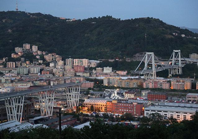 El colapso de un puente en Génova