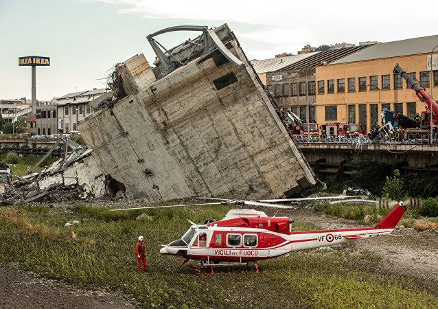 Colapso de viaducto de Génova