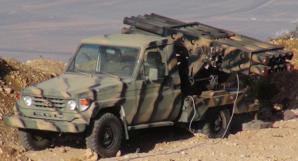 Un sistema de misiles del Ejército sirio