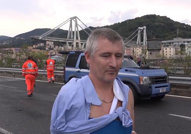 Un milagro: el testimonio de uno de los heridos por el derrumbe en Italia