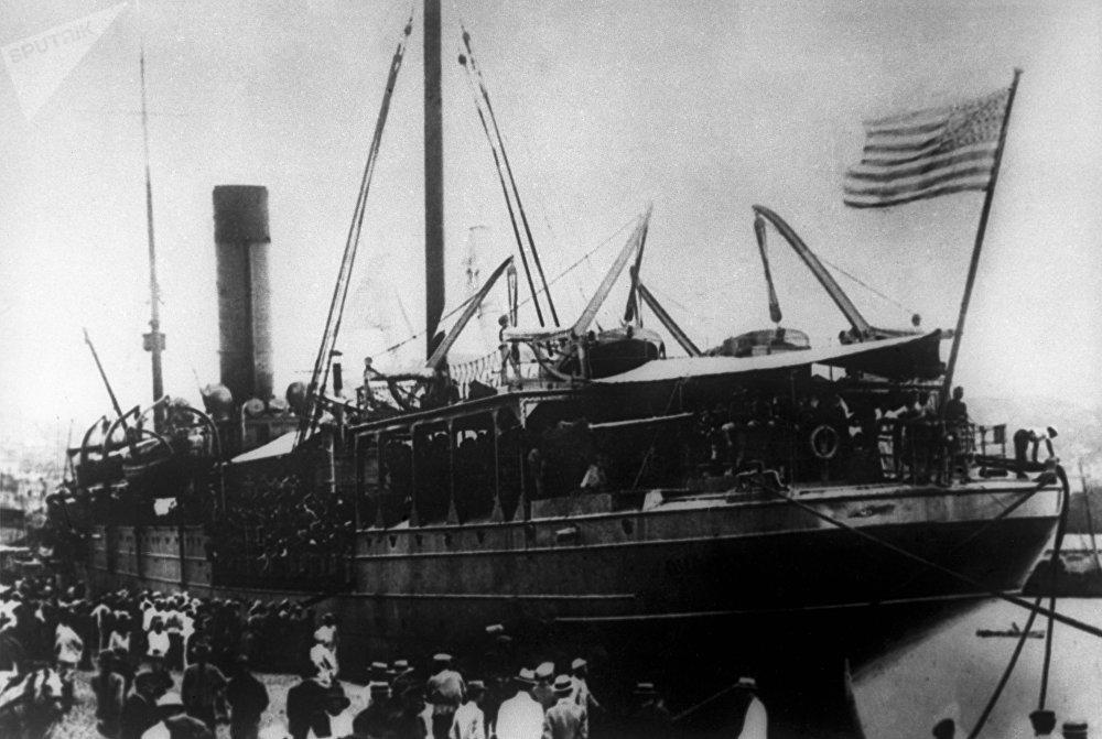 El desembarco de las tropas estadounidenses en Vladivostok (1918)