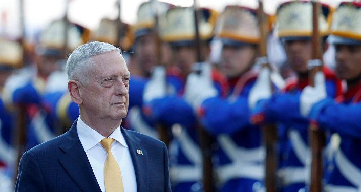 El secretario de Defensa de EEUU, James Mattis, en su gira latinoamericana