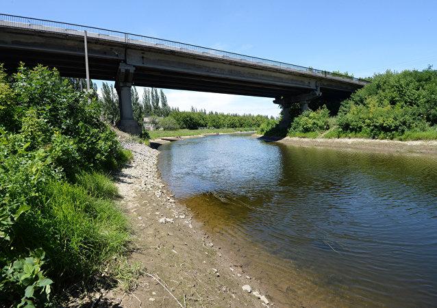 El canal Seversky Donets - Donbás, en Ucrania