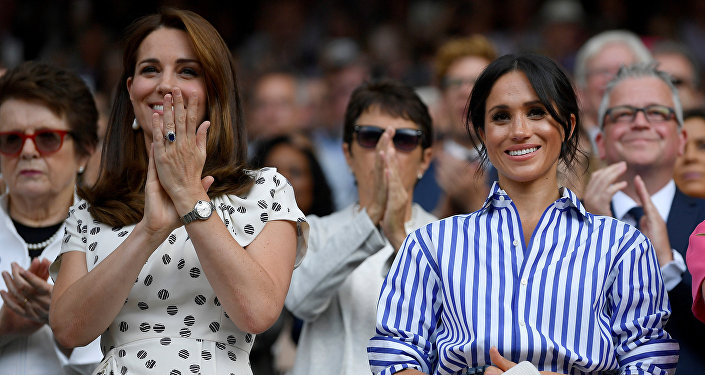 Kate Middleton, duquesa de Cambridge, y Meghan Markle, duquesa de Sussex