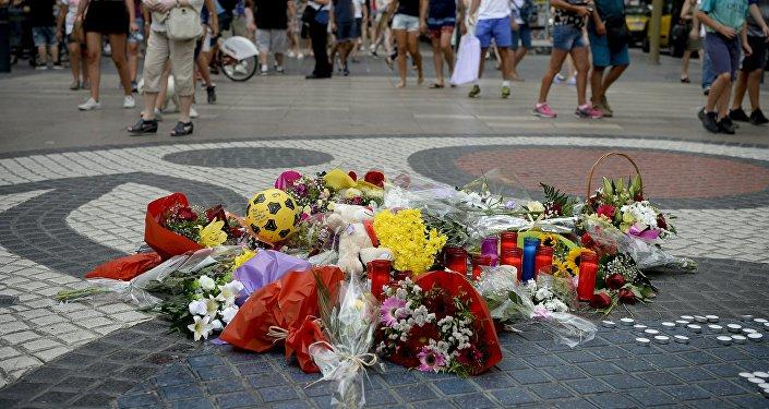 Homenaje a las víctimas de los atentado en Barcelona y Cambrils, España
