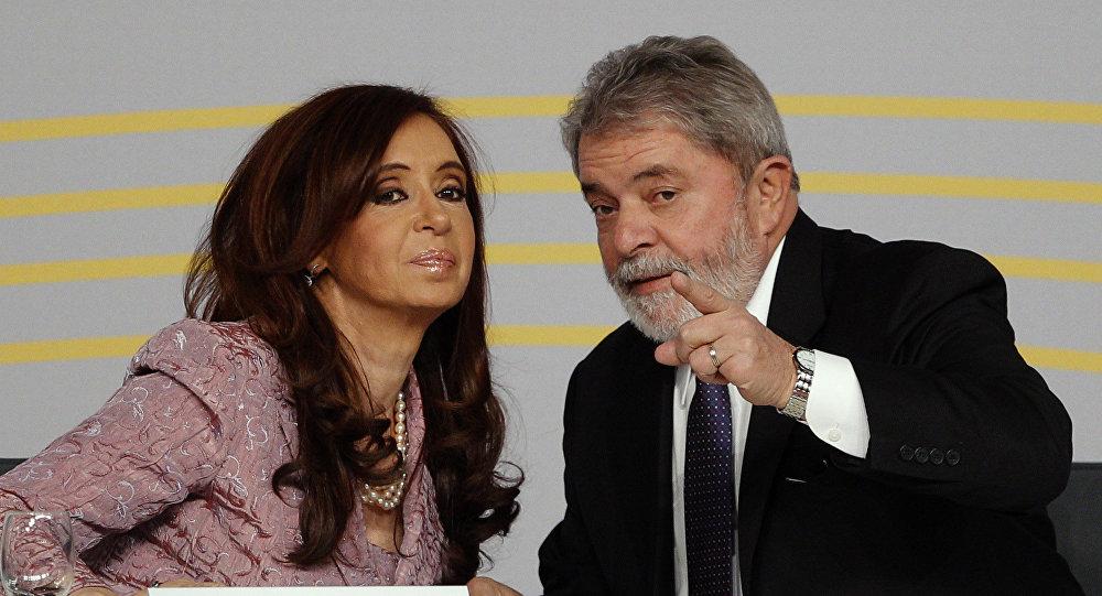 Cristina Fernández de Kirchner (izda.), presidenta de Argentina, y Luiz Inácio Lula da Silva, presidente de Brasil (archivo)