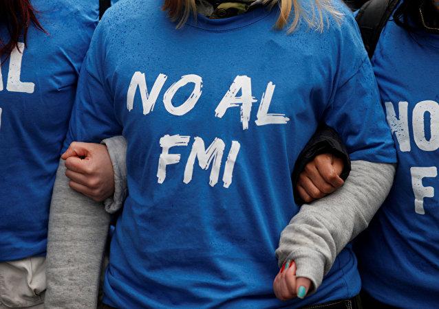 Manifestación contra el FMI en Argentina (Archivo)