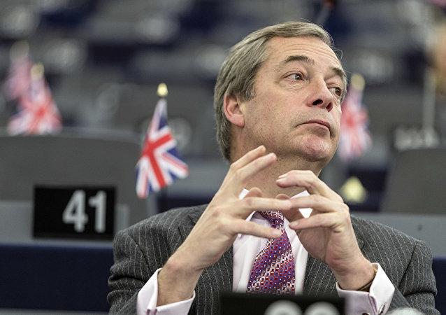 Nigel Farage, exlíder del Partido por la Independencia del Reino Unido (UKIP) (archivo)