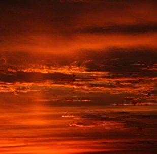 Las nubes, foto de archivo