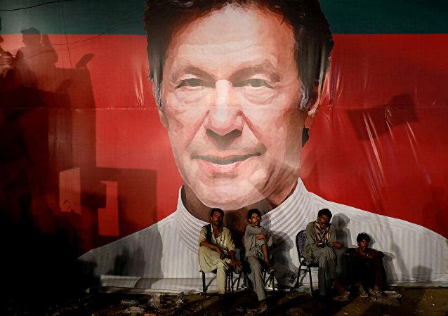 El retrato de Imran Khan, nuevo primer ministro de Pakistán