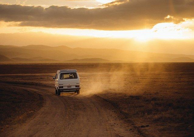 Volkswagen en el desierto