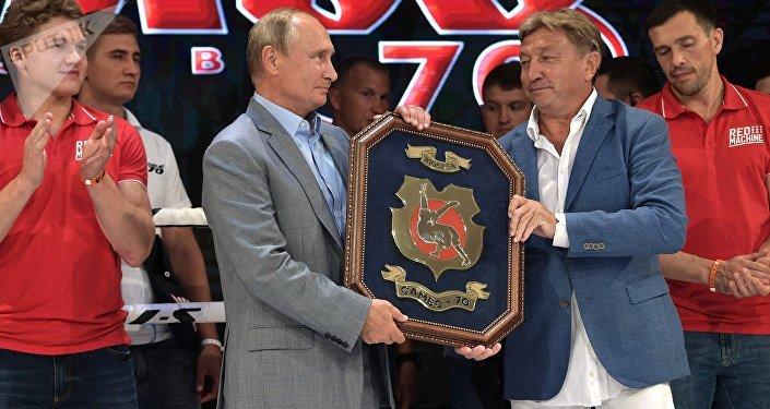 Putin premia al equipo vencedor del Torneo Internacional de Sambo en Sochi