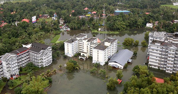 Inundaciones en Kerala, la India