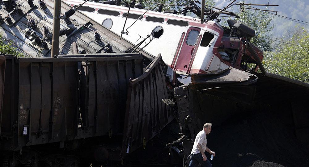 Colisión de dos trenes en Bosnia y Herzegovina