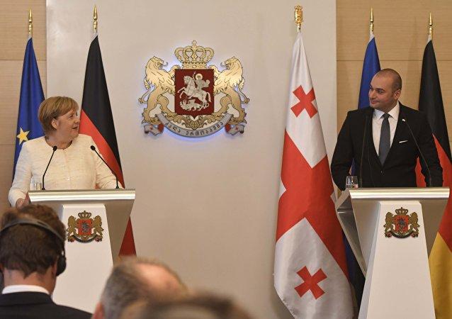 La canciller alemana, Angela Merkel en Georgia