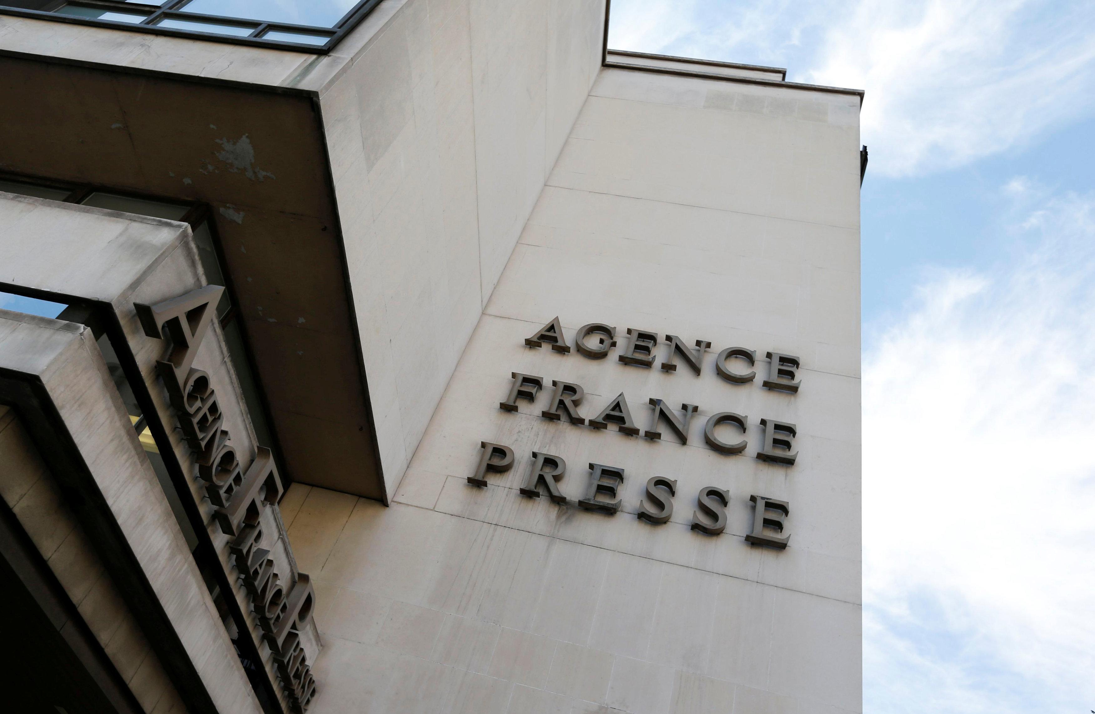 La sede de la agencia de Agence France Presse (AFP) en París, Francia