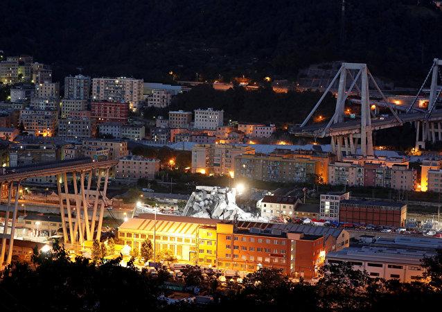 Puente de Génova después del colapso