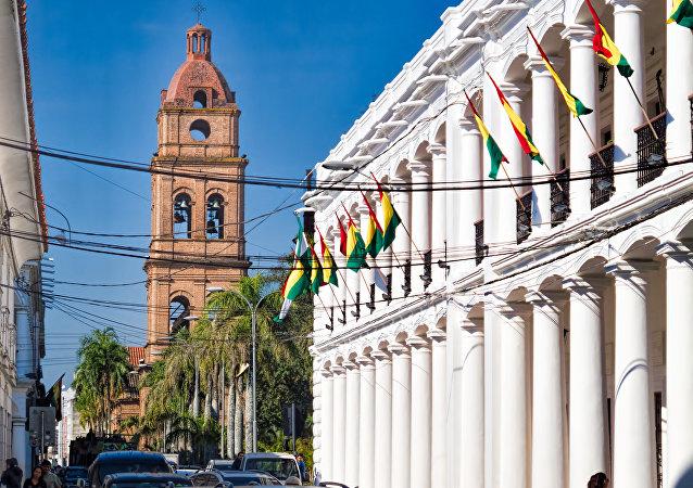 Banderas de Bolívia en Santa Cruz de la Sierra